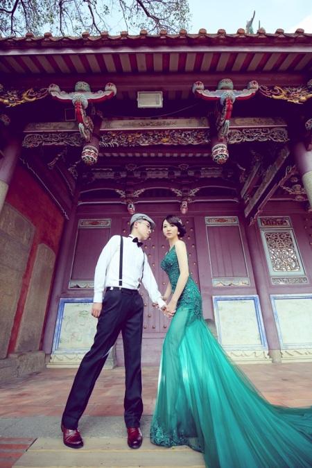 中式建築婚紗照-高雄婚攝Loyal